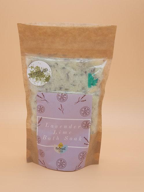 Lavender & Lime Bath Soak, 225g -The Natural Spa