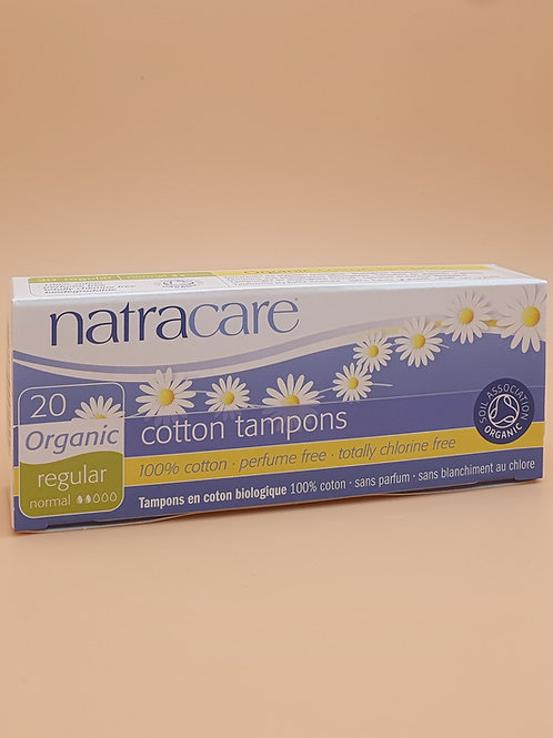 20 x Regular Non-Applicator Organic Cotton Tampons - Natracare