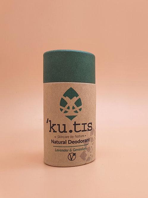 Lavender & Geranium Vegan Natural Deodorant, 55g - Kutis Skincare