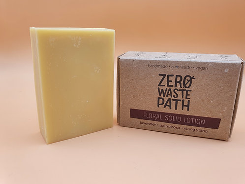 Floral Solid Body Lotion, 90g - Zero Waste Path