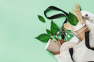Plastic free set with cotton bag, glass