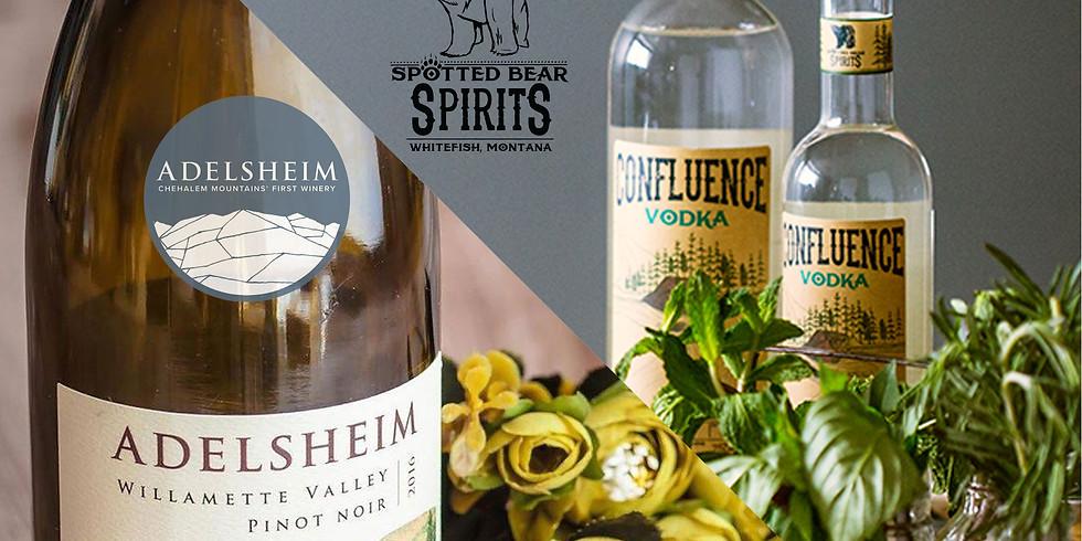 Adelsheim/Spotted Bear Wine & Spirits Dinner