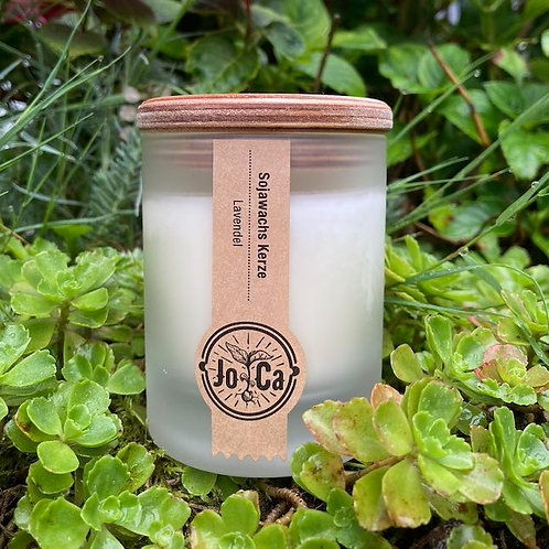 Lavendel Frosted Glass Soy Wax Candle