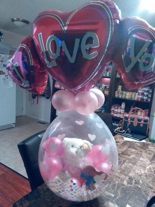 Valentine Stuffed Balloons