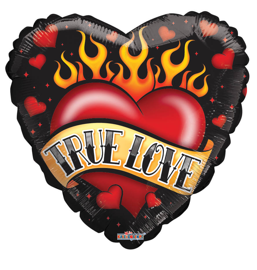 16254-LK-18-inches-Love-Tattoo-Foil-ball