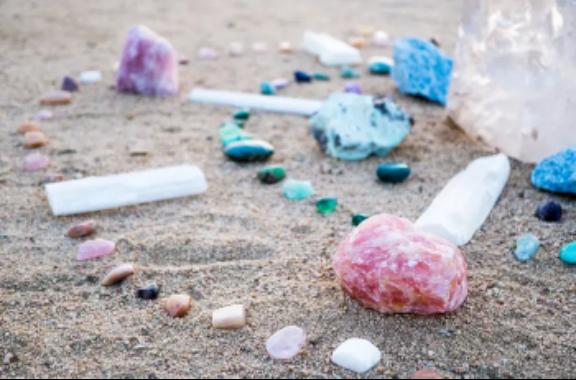 Crystals on Beach Grid