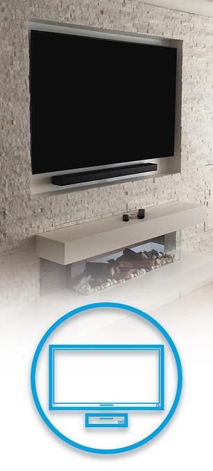 In wall TV with soundbar