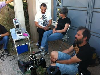 Shooting team with DOP Olympia Mitilinaiou