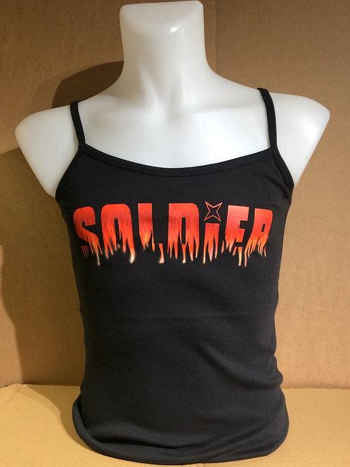 SOLDIER new style logo ladies quality cotton vest top