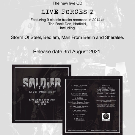 LIVE FORCES 2 track listing and release date announced!