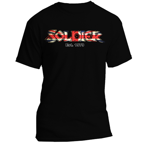 SOLDIER Sheralee Union Flag logo quality cotton T-shirt