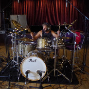 Tracking drums for the Defiant album.