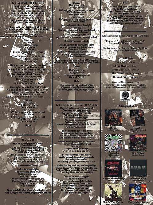 STORM RIDER E.P. Lyric sheet. Free download.
