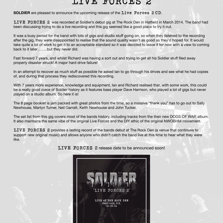 SOLDIER release LIVE FORCES 2!