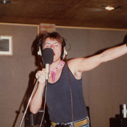 Phil Lewis recording vocals for what would be the bands final recordings of the 1980's.