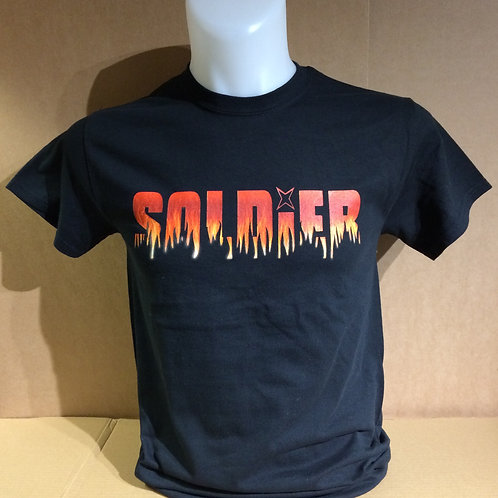 SOLDIER new style logo quality cotton T-shirt