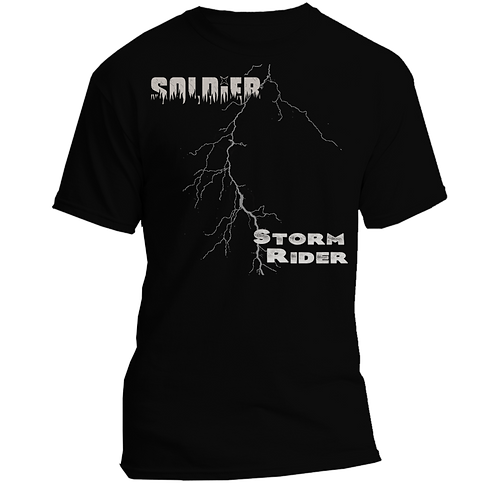 STORM RIDER quality cotton T-shirt with front and back print
