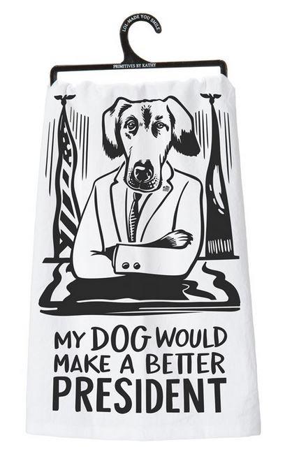 Dish Towel - DOG PRESIDENT