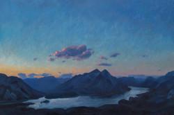 Twilight on Tent Ridge
