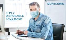 man wih face mask ad