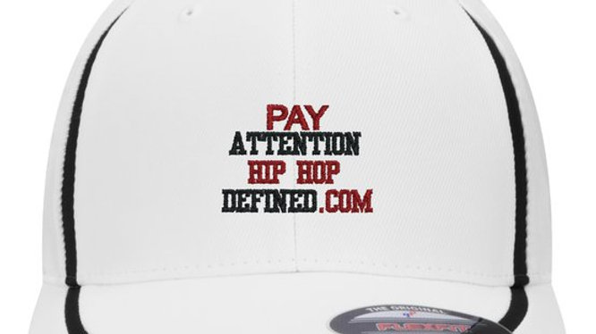 Pay Attention White BBall Cap