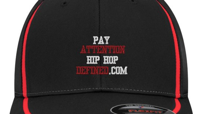 Pay Attention Black BBall Cap