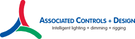 Associated Controls + Design Intelligent Lighting + Dimming + Rigging RGB Logo