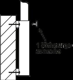 Wandhülse_1Schraube-2