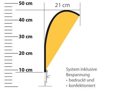 DieWerbedrucker-Tischbeachflag-Detail1