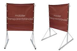 Mobiler Transparentständer M1 komplett