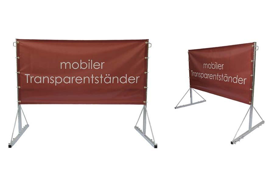 Mobiler Transparentständer M2 komplett