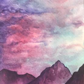 watercolor dusk