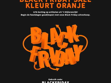 Black Friday kleurt Oranje -> 11% korting