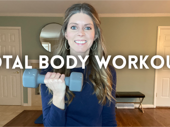 Total Body Workout at Home with Dumbbells