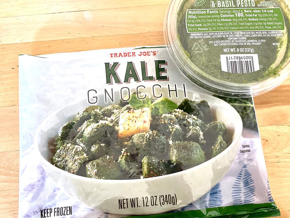 Trader Joe's Kale Gnocchi with Kale & Basil Pesto
