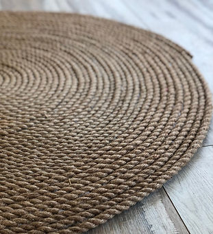 Decorative Round Rope Rug by Homemade with Love