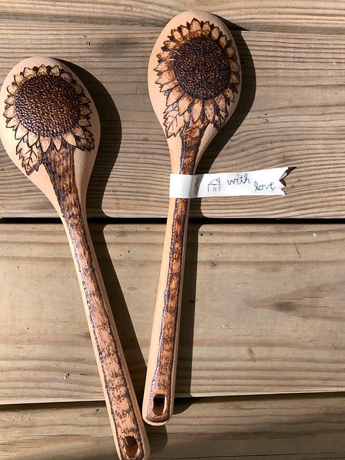 Customizable Wood-burnt Cooking Spoon