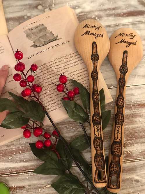 Harry Potter Woodburnt Cooking Spoon