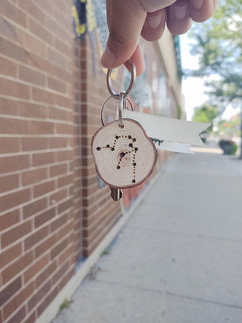 Wood-burnt Keychain