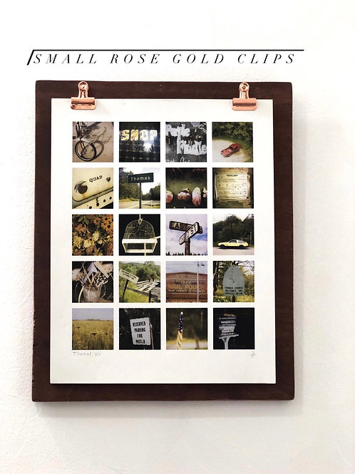 Customizable Clip Wood Board Frame