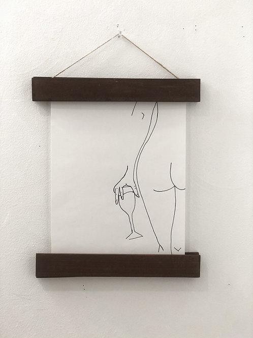 Customizable Wood Hanger Frame