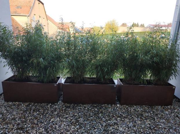 Jardinières sur-mesure en acier corten