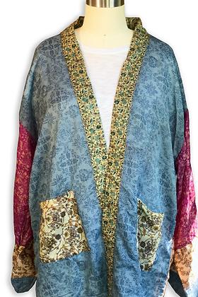 Summer Silk Road Sari-Kimono