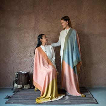Indigo marigold madder dyed shawls (1).j
