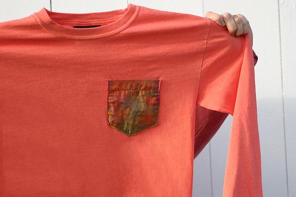 Onward Papaya Silk Pocket Long Sleeve
