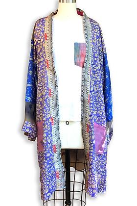 Grape Crush Silk Road Sari-Kimono