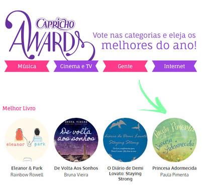 Princesa Adormecida no Capricho Awards 2014