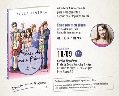 Lançamento de FMF em quadrinhos em Porto Alegre