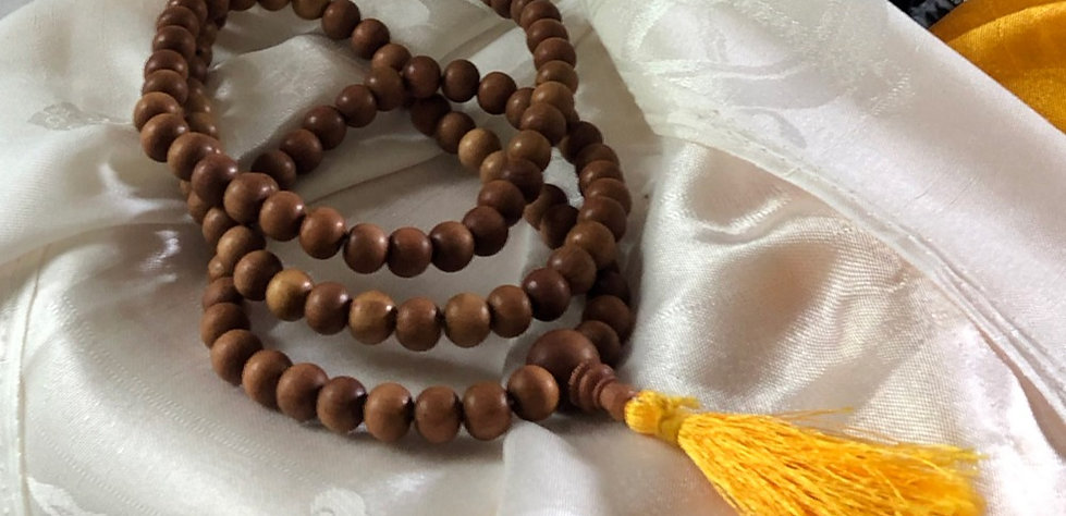 Sandalwood Mala for Indian COVID Relief