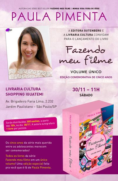 """Lançamento de """"Fazendo meu filme - Volume Único"""" em São Paulo"""